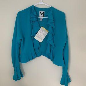 🎈Sale 20% NWT Marc Bouwer 100% Silk Ruffle Cover